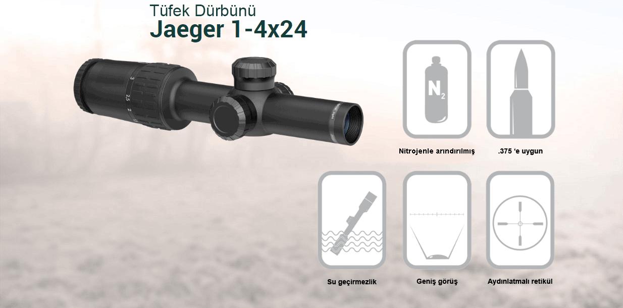Yukon Jaeger Optik Dürbün 1-4x24