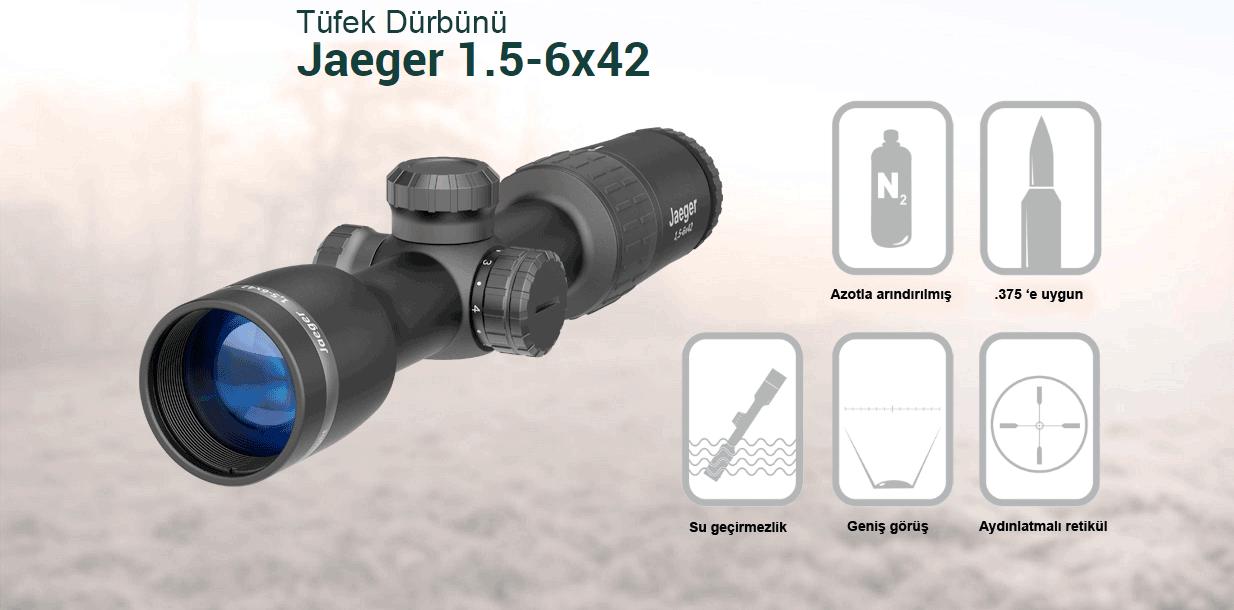 Yukon Jaeger Optik Dürbün 1.5-6x42