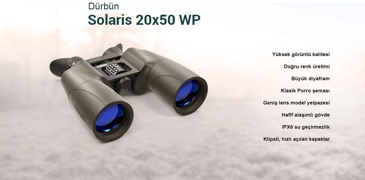 Yukon Solaris Dürbün 20x50 WP